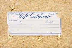 каникула подарка сертификата стоковая фотография