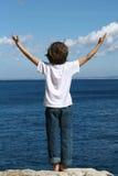 каникула ребенка счастливая стоковое изображение