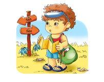 каникула ребенка иллюстрация вектора