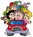 каникула семьи автомобиля счастливая Стоковые Фотографии RF