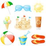 каникулы иконы установленные Стоковая Фотография RF
