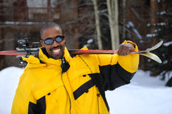 каникулы лыжи стоковое фото