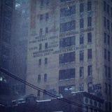 Каникулы Нью-Йорк Snowy стоковые изображения