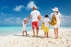 Каникулы пляжа семьи Стоковые Изображения RF