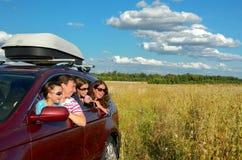 Каникула семьи, отключение автомобиля Стоковые Фотографии RF