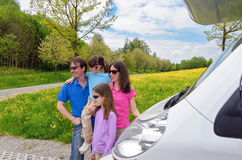 Каникула семьи, перемещение RV (туриста) Стоковая Фотография