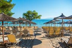 каникула территории лета katya krasnodar Пляж курорта Стоковые Изображения