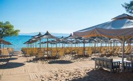 каникула территории лета katya krasnodar Пляж курорта Стоковое фото RF