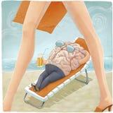 Каникулы мозга Иллюстрация штока