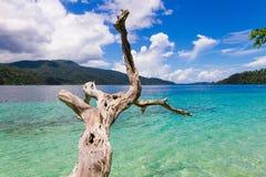Каникулы облаков моря песка природы Таиланда перемещения kai ландшафта взгляда красивые ослабляют touri andaman воды рая бирюзы н Стоковые Фотографии RF