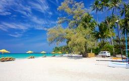 Каникулы рая на тропическом острове Стоковое фото RF
