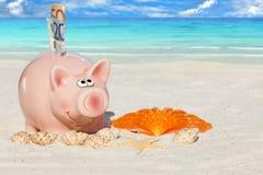 Каникулы für сбережений копилки Стоковое Изображение
