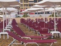 Каникулы Rethymnon на пляже Стоковое Фото