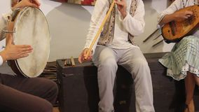 Каннелюра и мандолина сопровоженные барабанщиком Стоковое фото RF