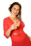 каннелюра шампанского брюнет Стоковые Изображения RF