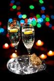каннелюры шампанского Стоковое фото RF