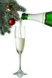Каннелюры шампанского в установке праздника. Стоковая Фотография RF