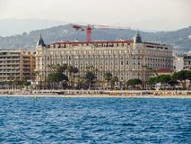 Канн - международный отель Carlton стоковое фото rf