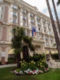 Канн - международный отель Carlton стоковые фотографии rf