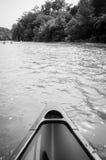 Каное в реке Стоковое Изображение