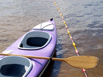 Каное на банке озера Стоковое Изображение RF