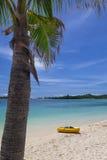 Каное на пляже Стоковые Изображения RF
