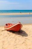 Каное на пляже Стоковая Фотография