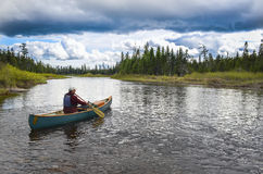 Каноист, река St. John, Мейн Стоковые Фото