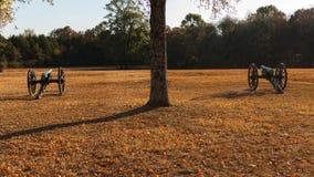 Каноны на поле брани гражданской войны Стоковое Фото