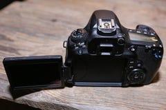 Канон SLR для видео стоковое изображение