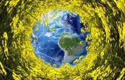 Канола ландшафт stereographic Стоковые Фото
