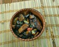 Кантонское casserol баклажана Стоковое фото RF
