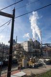 Кантон, Северная Каролина /USA - 6-ое декабря 2015: Proces бумажной фабрики стоковая фотография rf