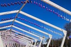 Канун большого религиозного праздника, пасха Необыкновенное tunel появилось в центральную часть города Стоковое Изображение
