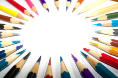 Канцелярские принадлежности используемые для того чтобы покрасить искусство стоковая фотография