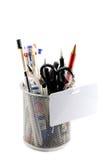 канцелярские принадлежности карандаша случая Стоковая Фотография