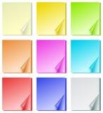 канцелярские принадлежности цвета бумажные Стоковая Фотография