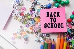 Канцелярские принадлежности школы обрамляя для школы и офиса Education/BACK стоковое изображение