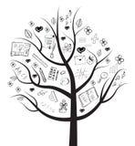Канцелярские принадлежности дерева Стоковые Изображения RF