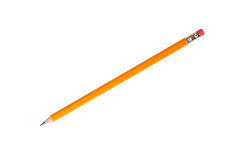 Канцелярские принадлежности - новый карандаш графита изолировано Стоковое фото RF