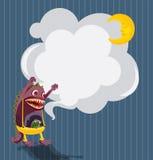 Канцелярские принадлежности с страшным извергом и спать лунатируют Стоковые Фотографии RF