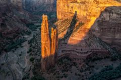 каньона спайдер de утеса chelly стоковое фото rf