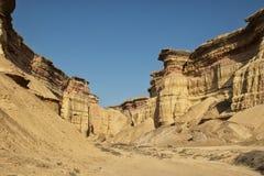 Каньоны в пустыне Namibe вышесказанного anisette С метками размывания стоковое изображение rf