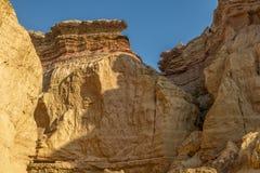Каньоны в пустыне Namibe С солнцем вышесказанного anisette стоковое изображение