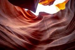 Каньон антилопы - изумляя цвета утесов песчаника стоковые фотографии rf