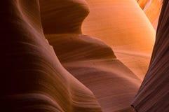 каньон антилопы понижает шлиц Стоковое Изображение