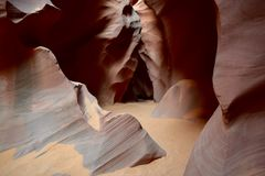 Каньон антилопы, страница, Аризона, США стоковое фото