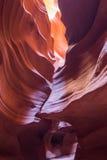 Каньон антилопы в ресервировании Навахо около страницы, Аризоны, США Стоковое Фото