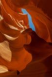 каньон антилопы понижает шлиц Стоковое Изображение RF