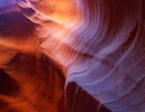 каньон Аризоны антилопы около верхушкы шлица страницы Стоковые Изображения RF